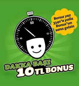 Dakka Başi 10 TL Bonus