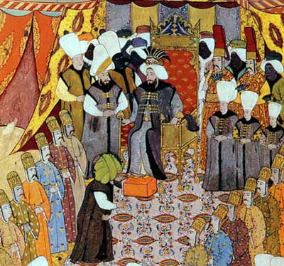 Minyatur - Sultana hediye sunulmasi