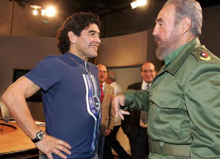 Maradona ve  Fidel Castro